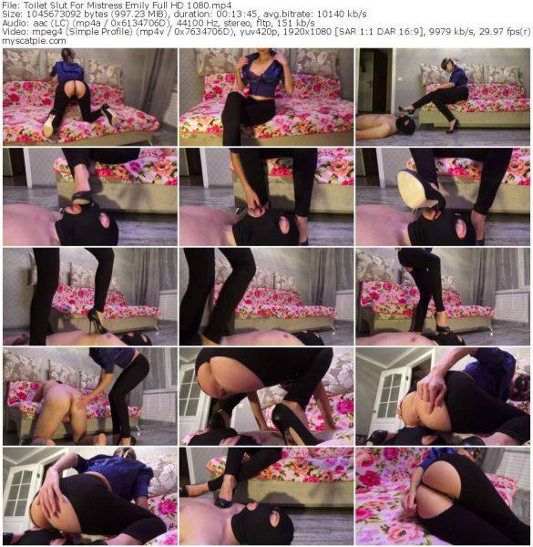 Toilet Slut For Mistress Emily Full HD 1080