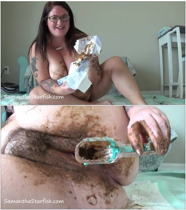 ScatShop - Extreme BBW Girl Scat indoors! (720p, 05.11.2017, shit smearing, scat eating, bbw)