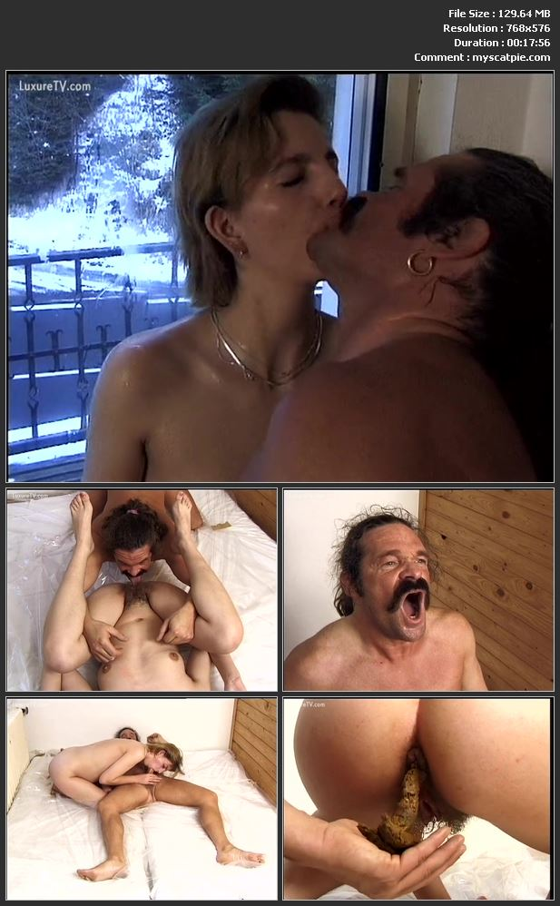 Third Scene Of Tatort Toilette Nr. 89: Scat Sex In A Chalet (2005, 576p, Hairy, Shit Smearing)